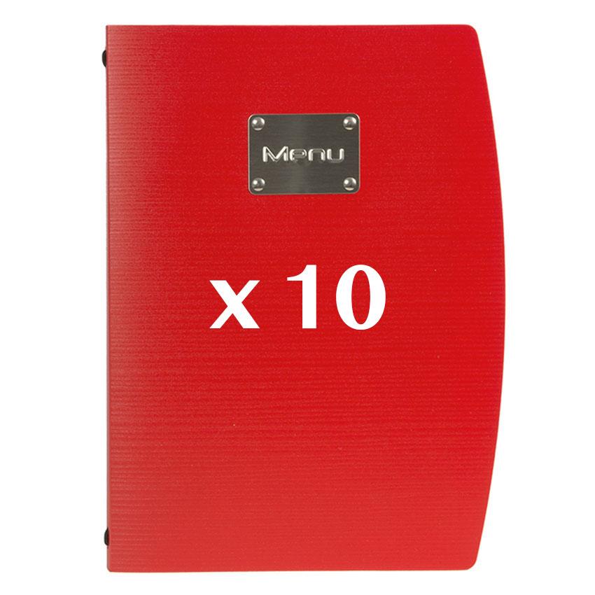 10 Protège-menus Rio Rouge