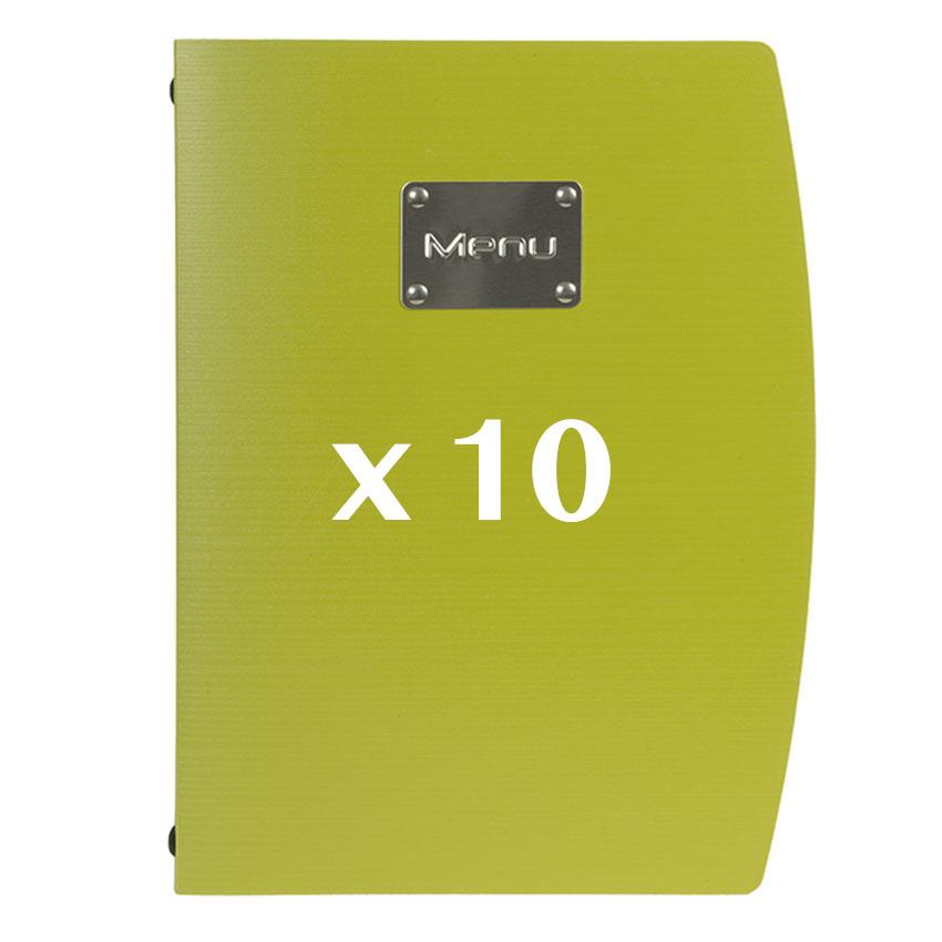 10 Protège-menus Rio vert