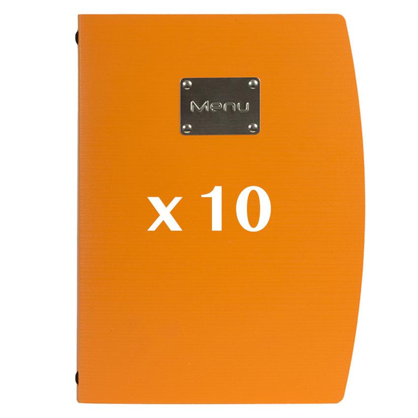10 Protège-menus Rio Orange