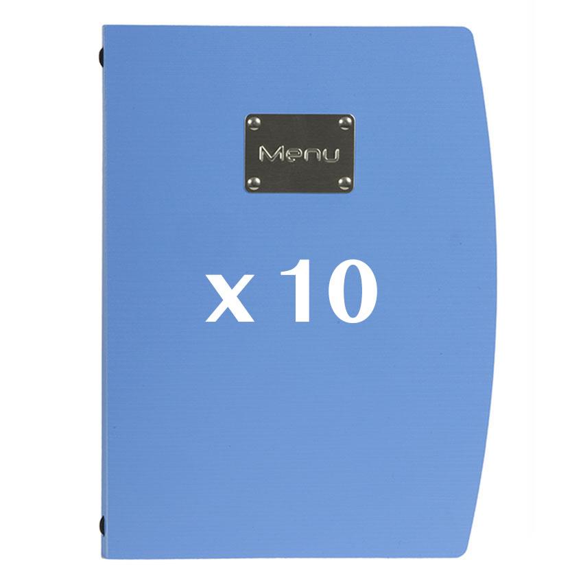 10 Protège-menus Rio bleu