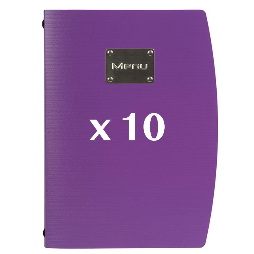 10 Protège-menus Rio violet