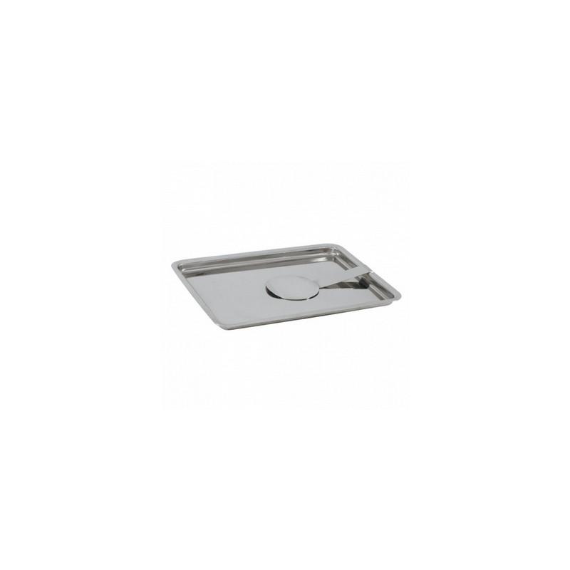 Lot de 2 plateaux /à pince en aluminium DIN A4