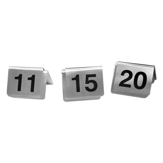 10 chevalets de table numérotés Inox
