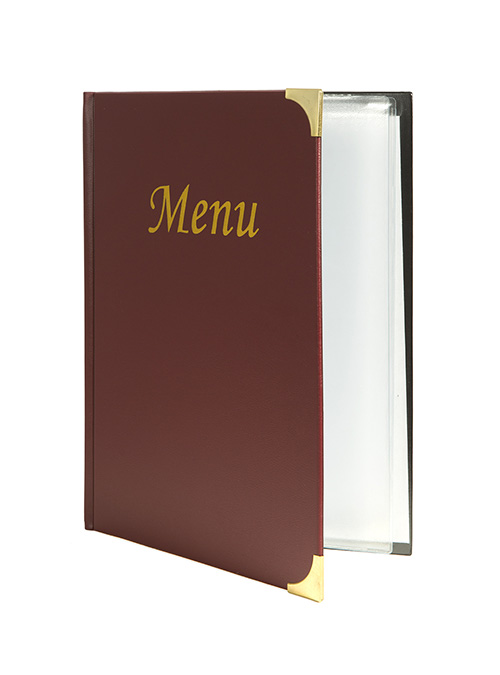 Protège-menus A4 Basic bordeaux