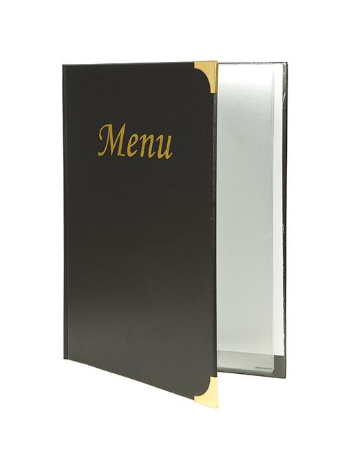 Protège-menus A4 Basic noir