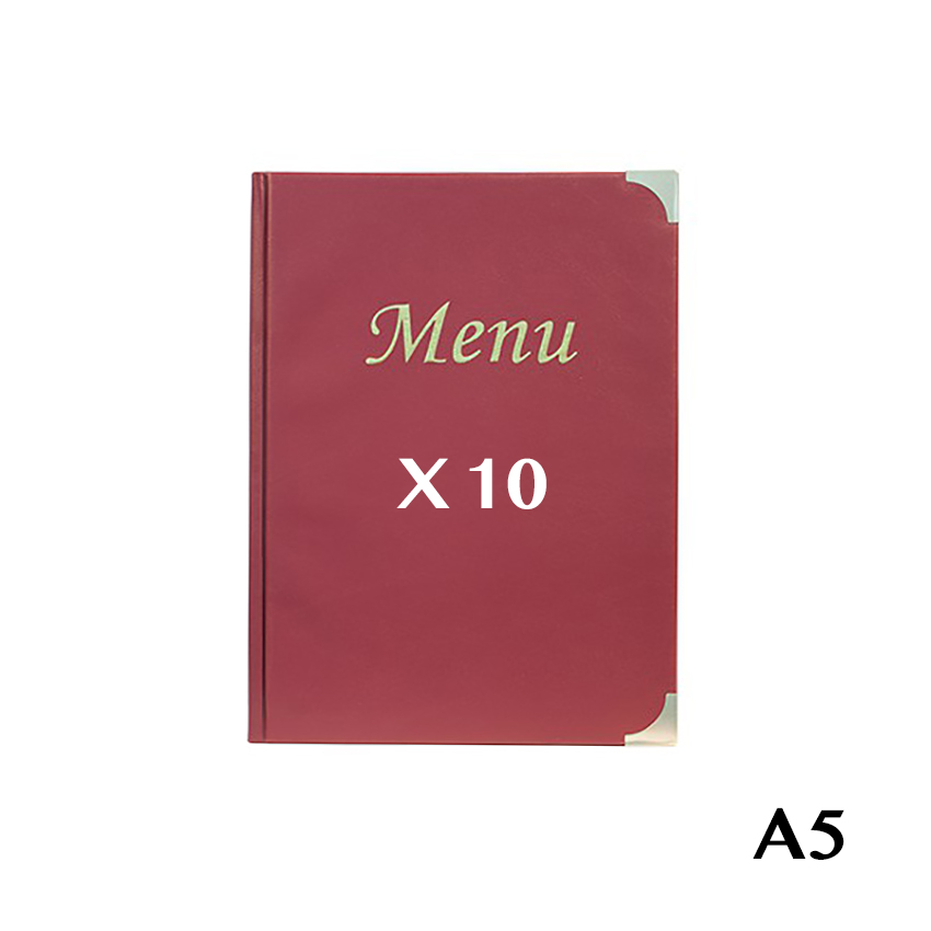 Protège-menus A5 Basic bordeaux