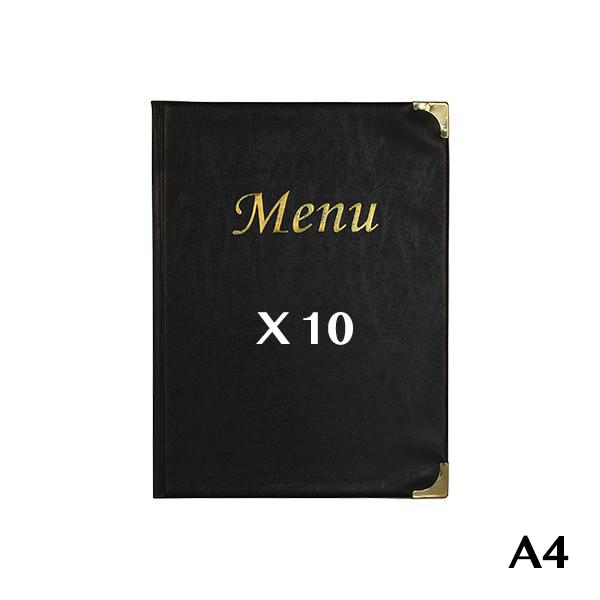 10 Protège-menus A4 Basic noir