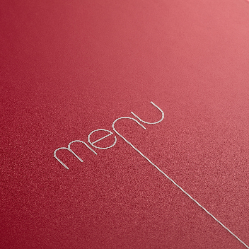 Protège-menu Risto A4 rouge