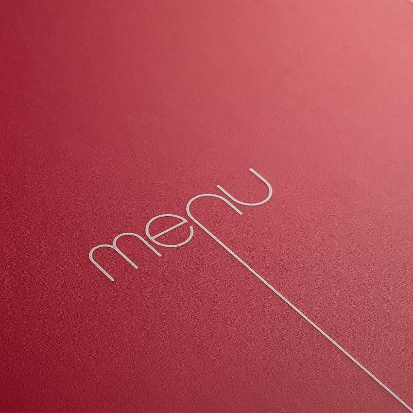Protège-menu Risto A5 rouge