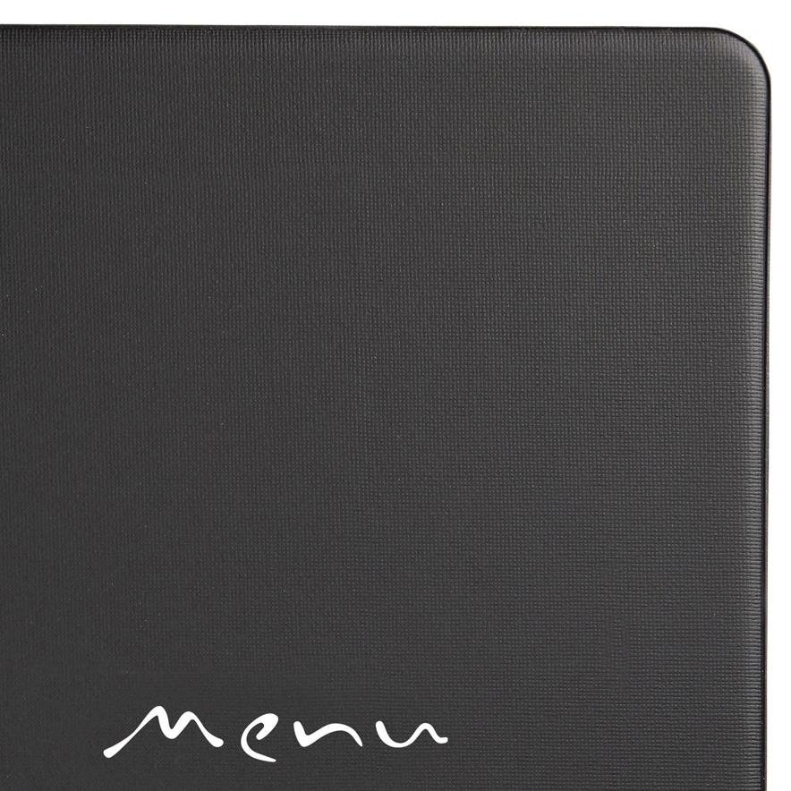 Protège-menu restaurant A5 noir Toscana