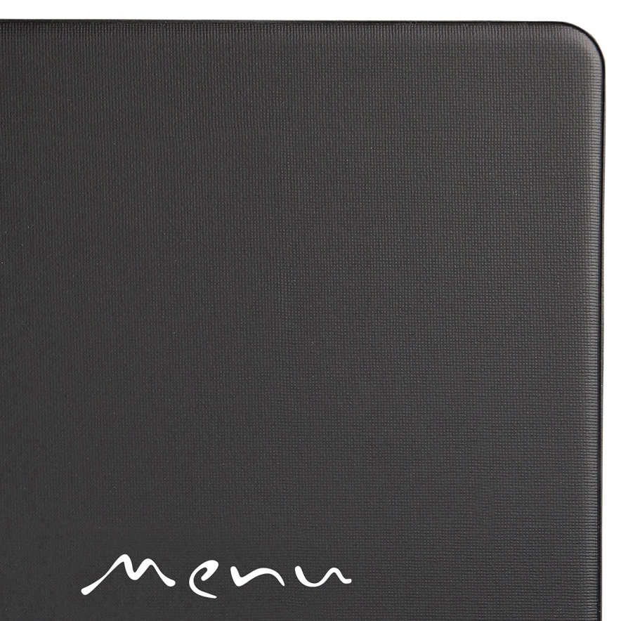 Protège-menu restaurant A4 noir Toscana