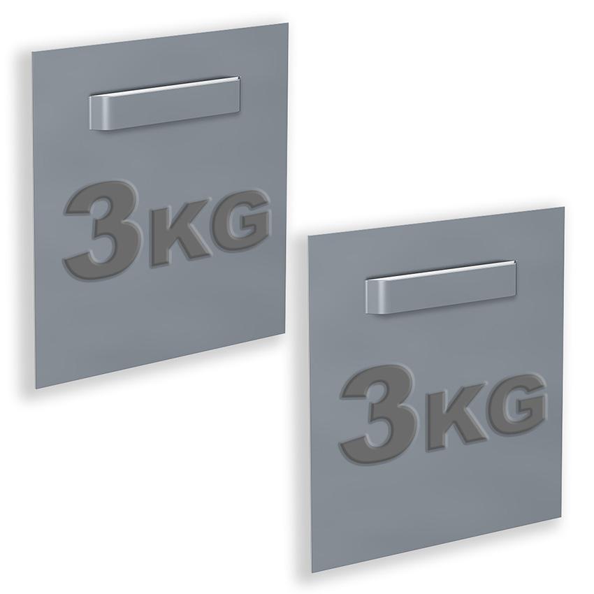 boite de 2 attaches Adhésives pour Dibond et miroir 70 x 70 mm : max 3 kg