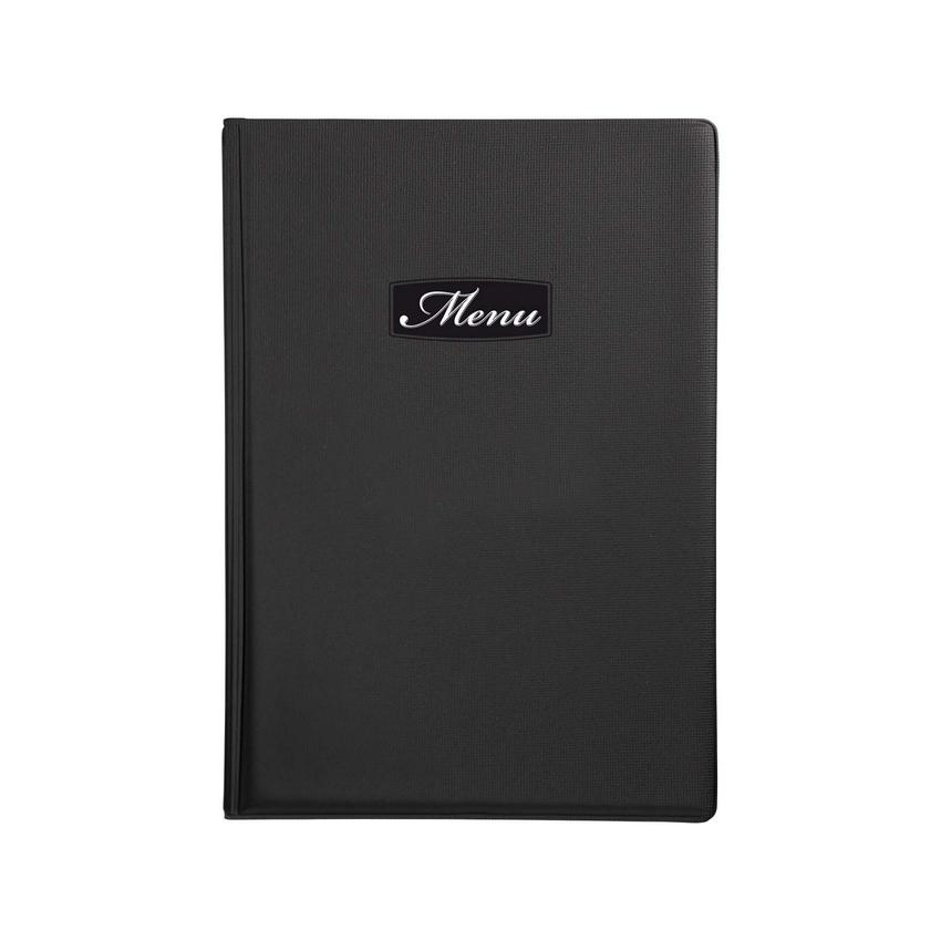 Protège-menu A5 noir Toscana pour hôtel - restaurant