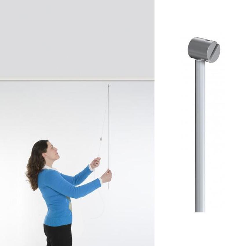 Accessoire pour montage de câble perlon et acier Twister sur cimaise - Tige Twister Remote