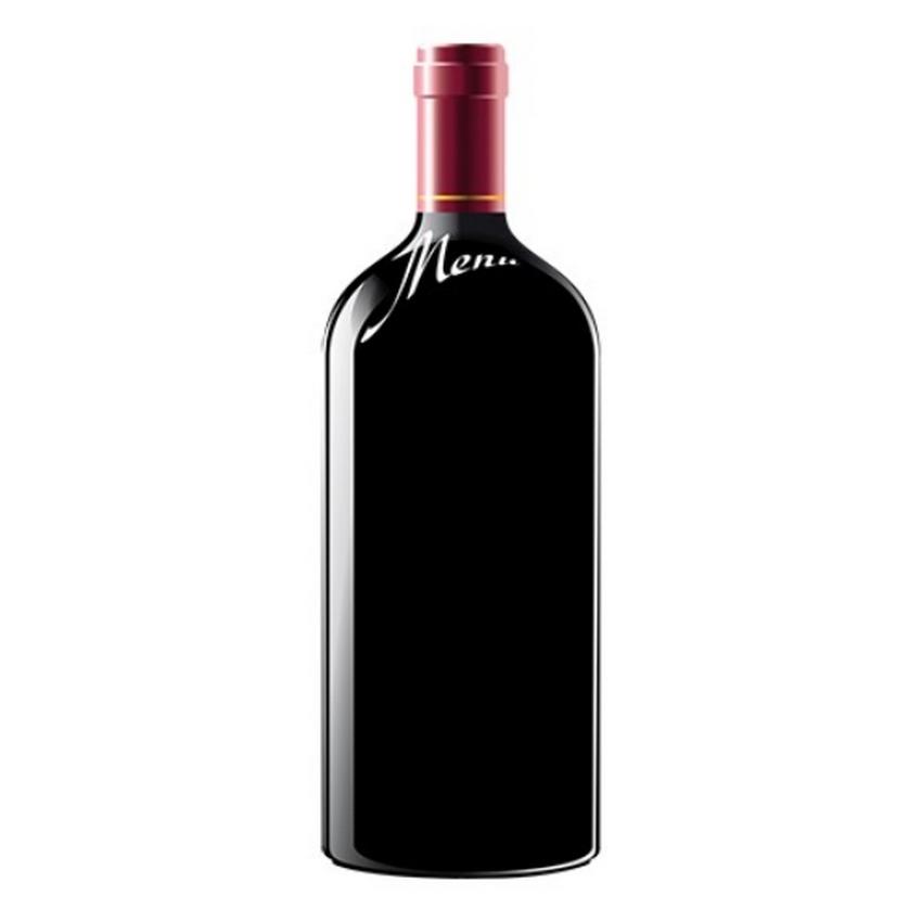 Ardoise menu en forme de bouteille de vin pour hôtel - restaurant brasserie