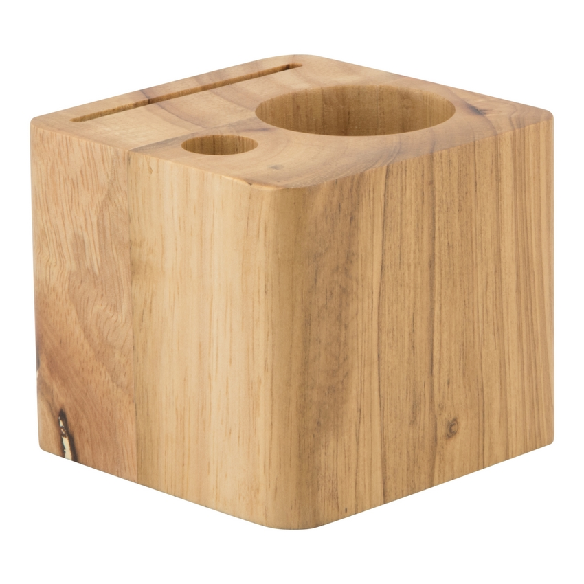 Porte-addition en bois modèle Cube (stylo inclus)