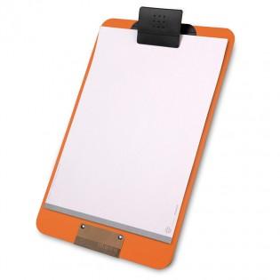 Porte menu orange A4 en PVC souple
