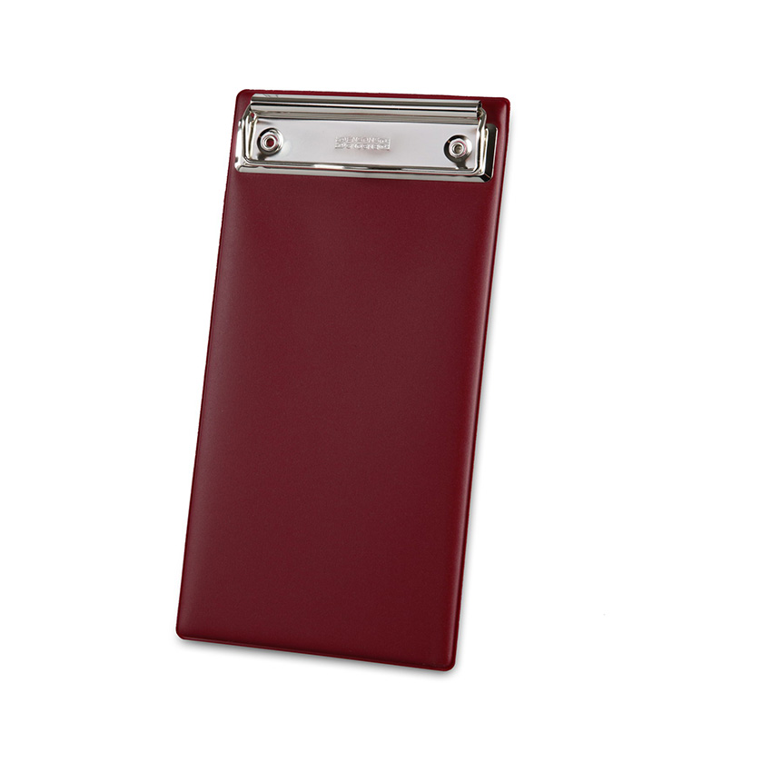 Porte-addition Clipboard bordeaux en PVC gamme Risto