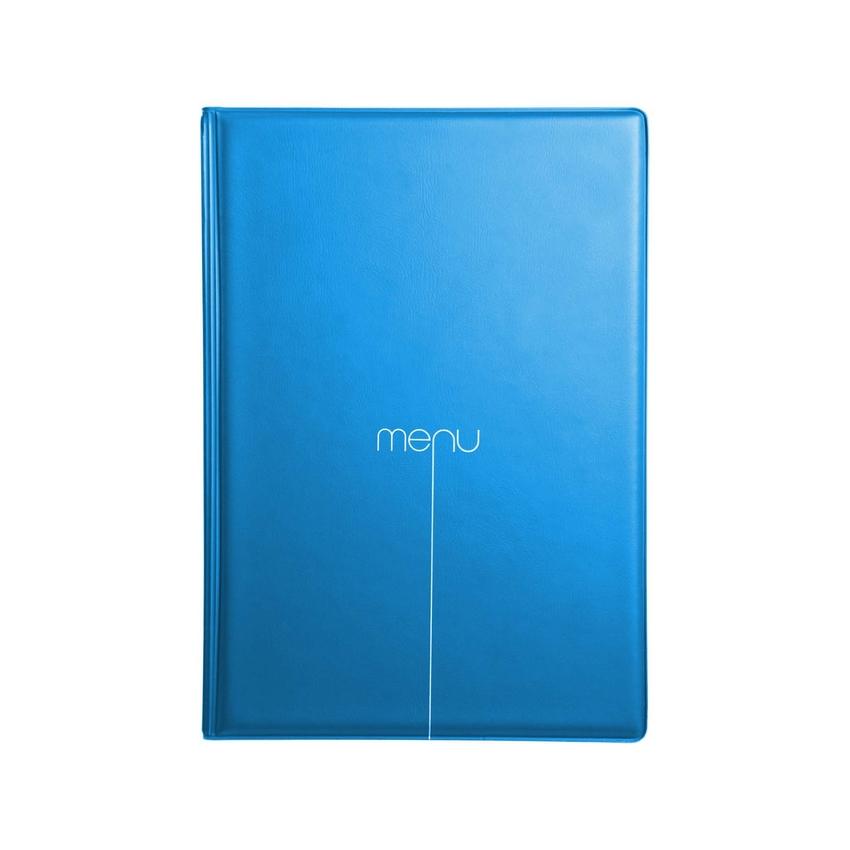 Protège-menu Risto A5 bleu