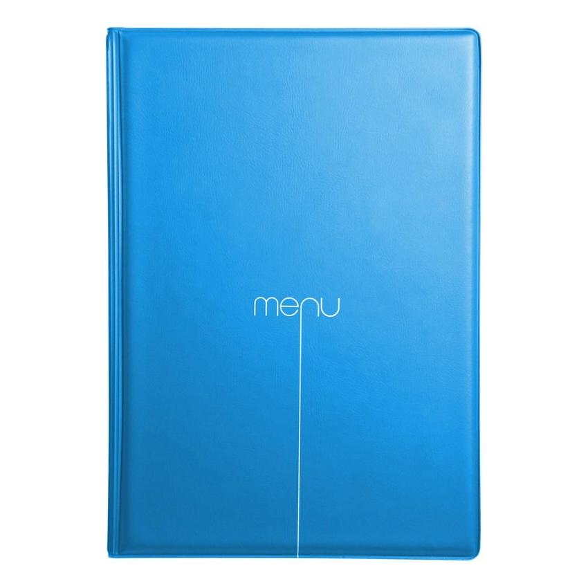 Protège-menu Risto A4 bleu ciel