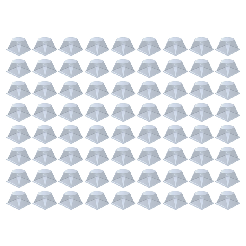 Plaque de 72 blocs adhésifs et antidérapants