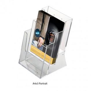 Porte brochure de table et de comptoir format A4