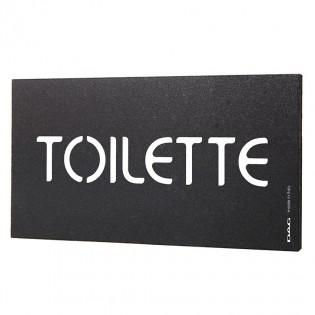 """Plaque de porte inscription """"Toilette"""" - Signalétique toilettes pour lieux publics"""