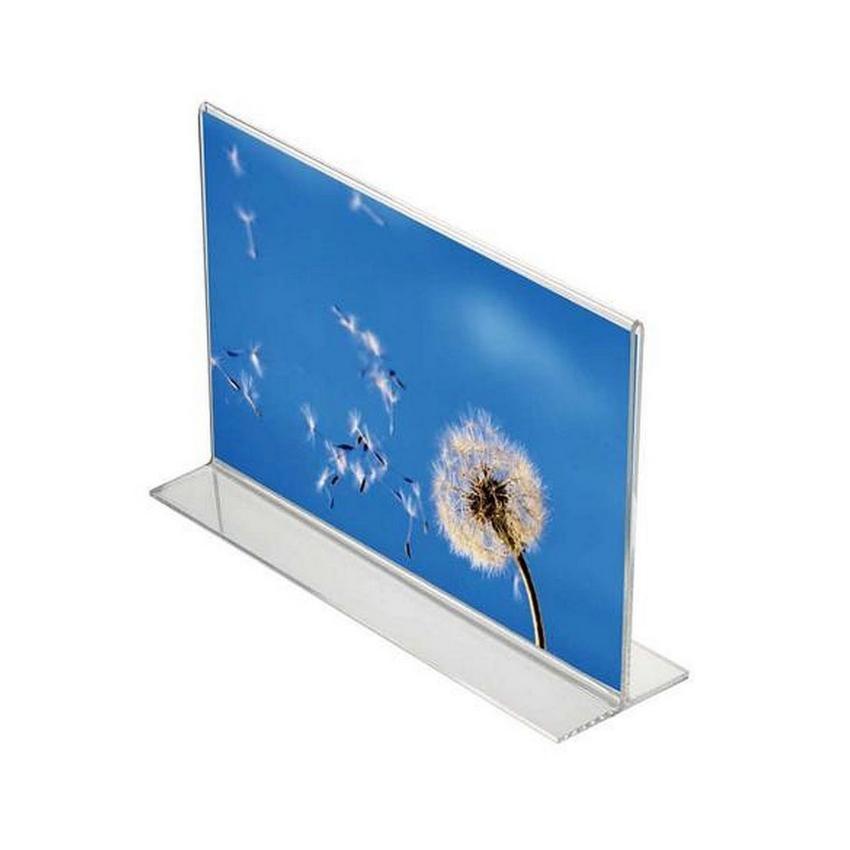 Porte menu de table en T format A4 paysage