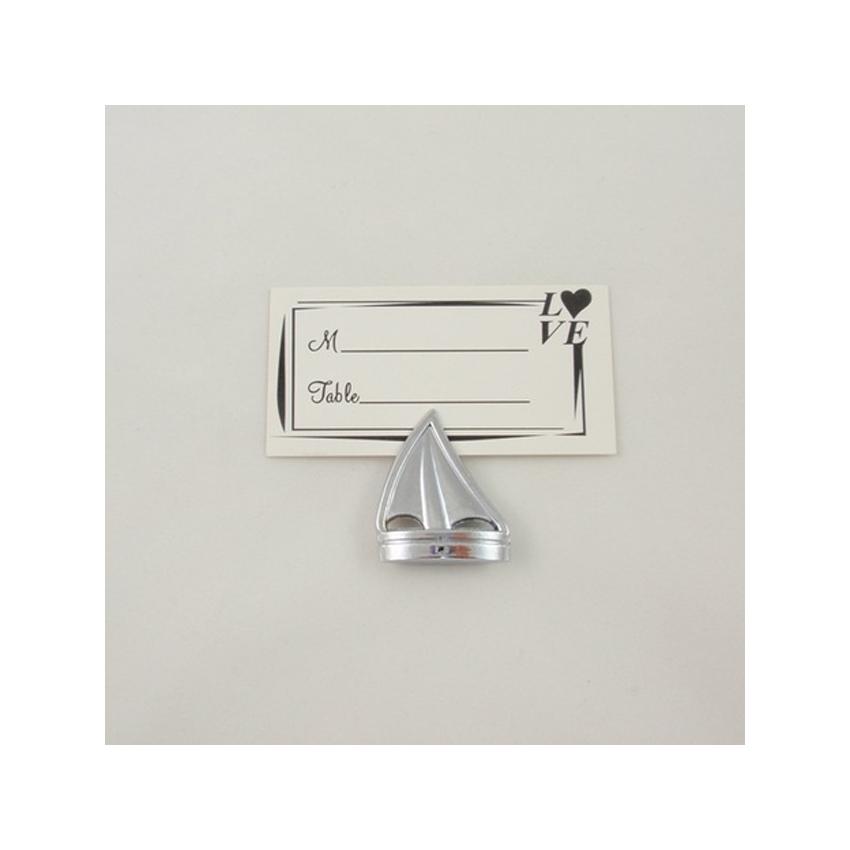 Porte numéros de table thème mer - Marque place ou porte noms forme bateau