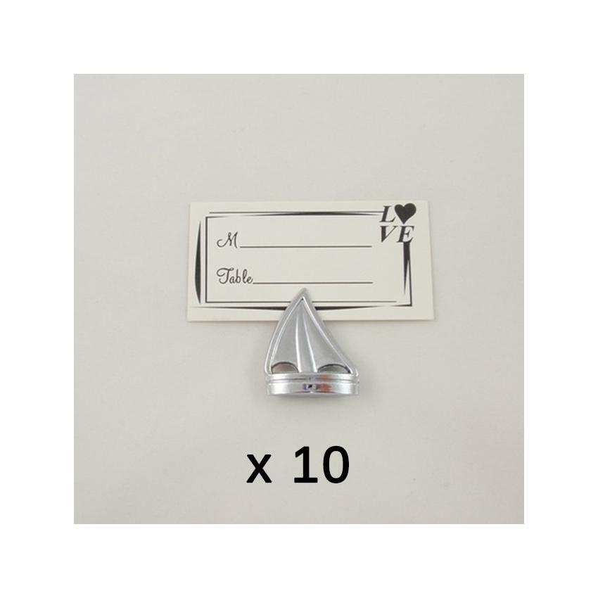 10 porte numéros de table thème mer - Marque place bateau