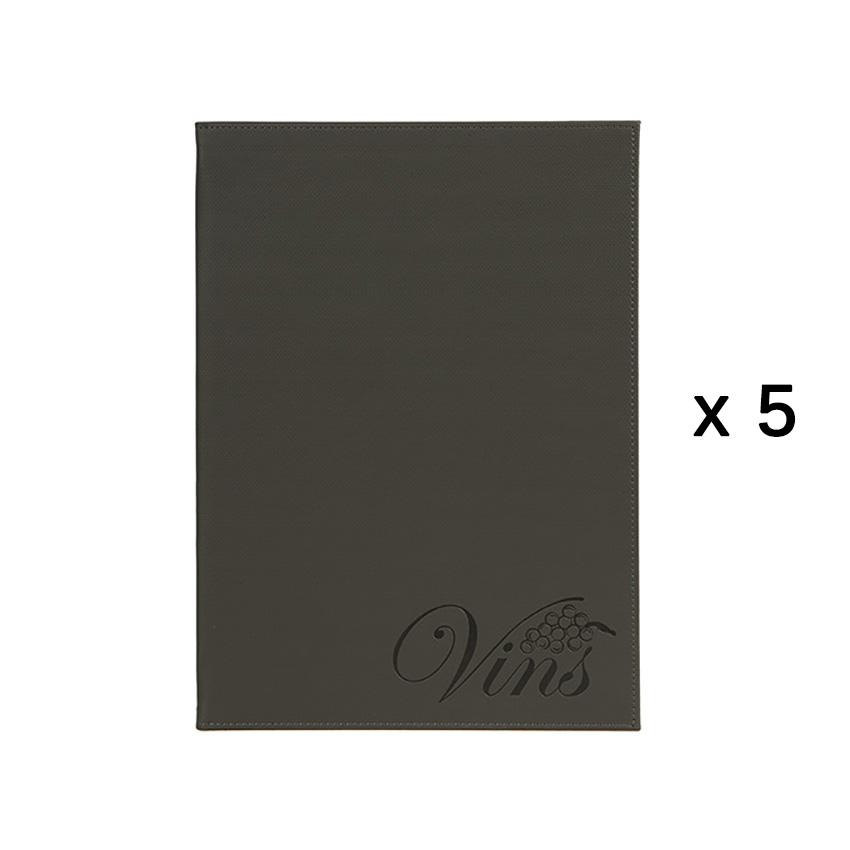 Lot de 5 cartes de vins Velvet