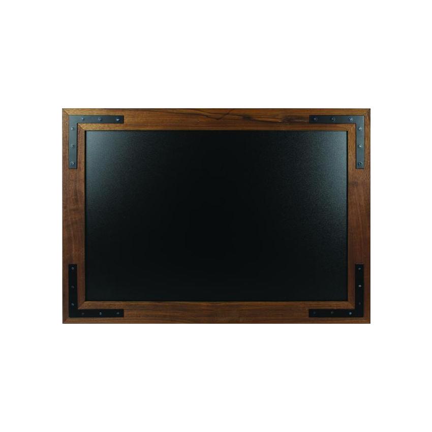 Chevalet ardoise double face en bois - Ardoise trottoir (85 x 55 cm)