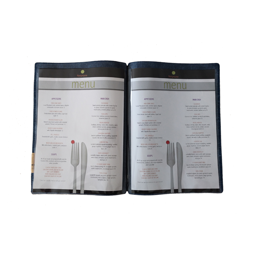 Lot de 10 inserts pour protège-menu A4 - DAG Style