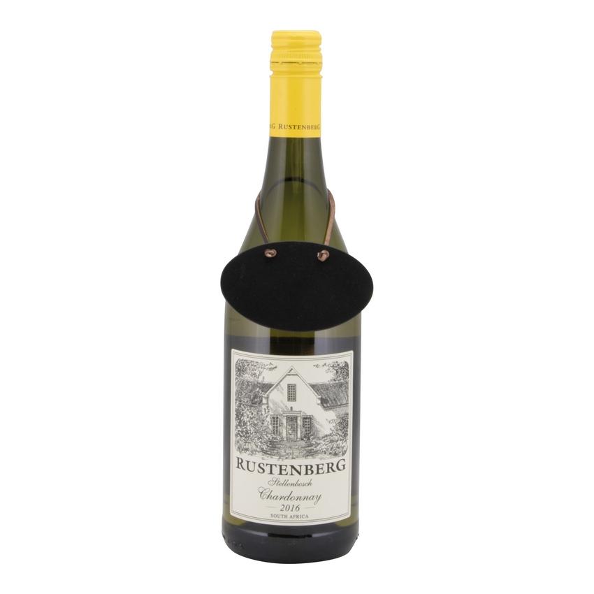 6 étiquettes ardoise pour bouteille de vin + feutre craie