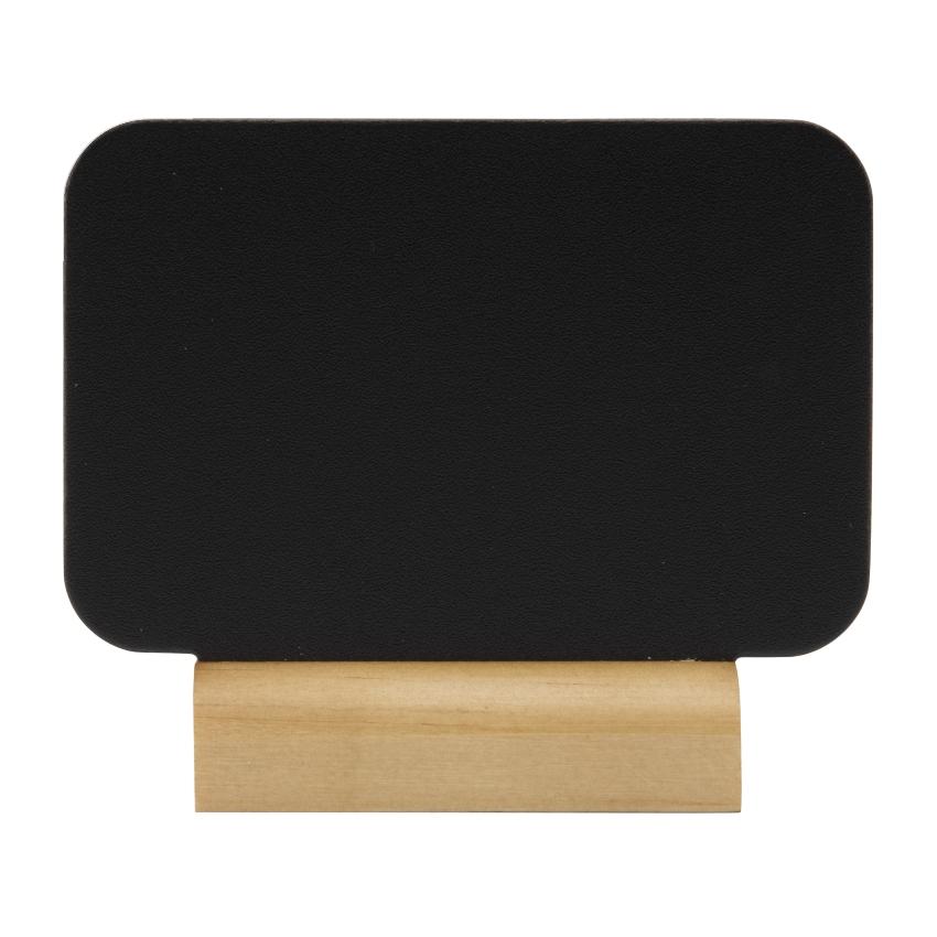 4 mini ardoises de table socle bois + feutre craie