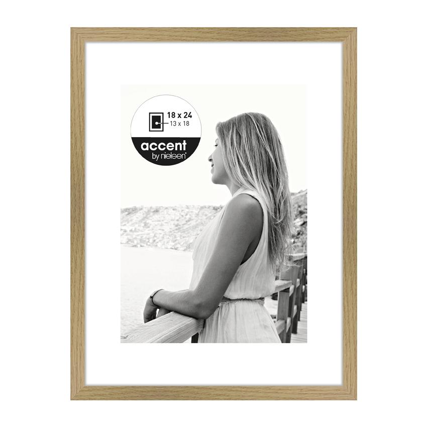 Cadre en bois avec passepartout Nielsen Aura 18 x24 cm