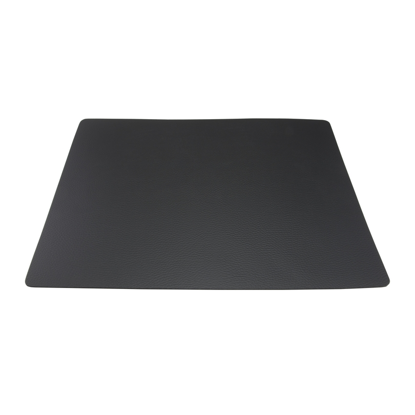 Set de table rectangle en cuir noir effet peau - Securit (unité)