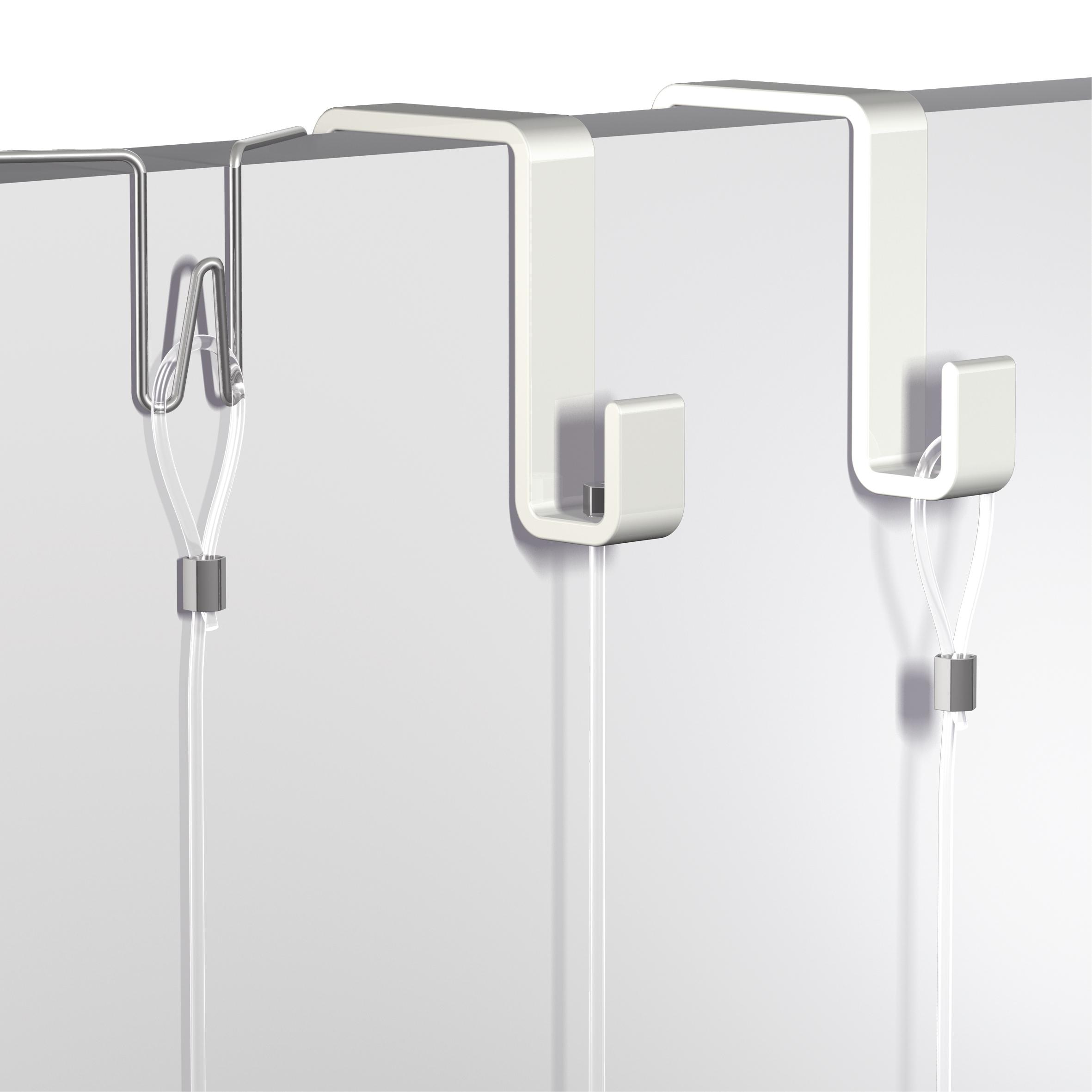 Attache Tableau Sans Percer crochet flexible pour panneaux de stand 31 - 55 mm crochet flexible pour