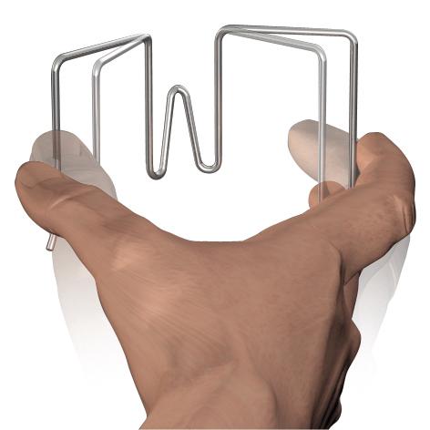 Crochet Flexible pour panneaux de stand 31 - 55 mm