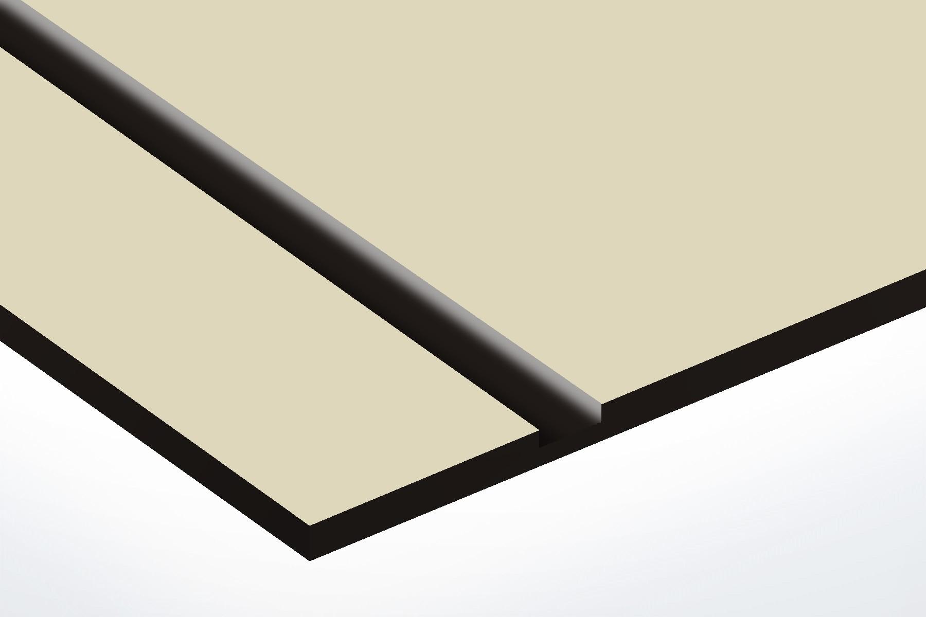 plaque boite aux lettres Decayeux (100x25mm) beige lettres noires