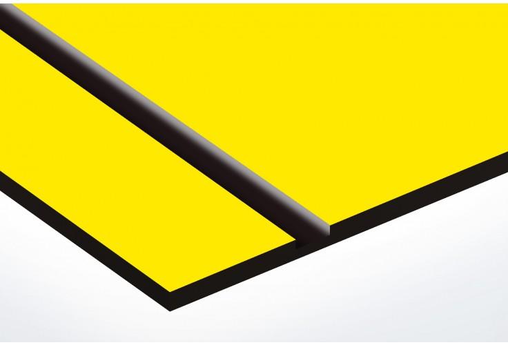 plaque boite aux lettres Decayeux (100x25mm) jaune lettres noires