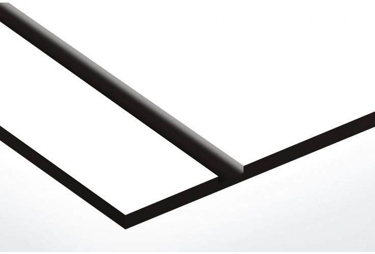 Plaque boite aux lettres Decayeux (100x25mm) blanche lettres noires - 1 ligne