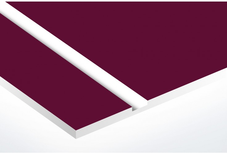 Plaque boite aux lettres Decayeux (100x25mm) bordeaux lettres blanches - 1 ligne