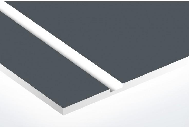 Plaque boite aux lettres Decayeux (100x25mm) grise lettres blanches - 1 ligne