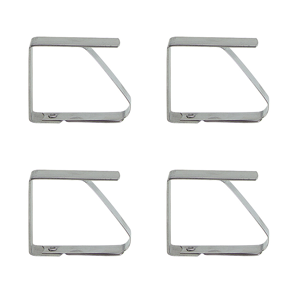 Lot de 4 clips / pinces pour nappe de table en Inox