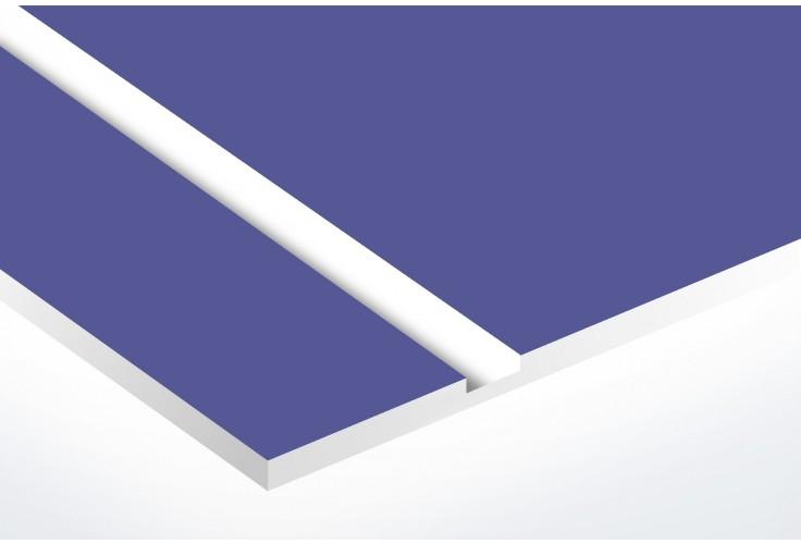 Plaque boite aux lettres Decayeux (100x25mm) violette lettres blanches - 3 lignes