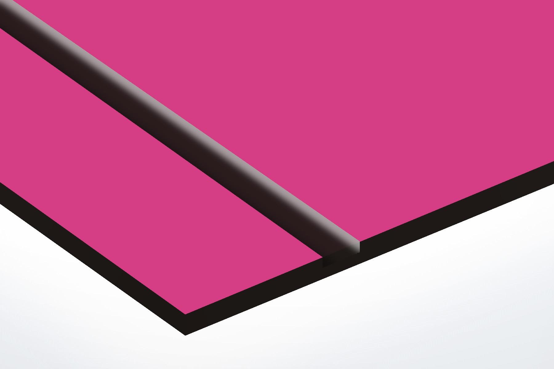 Plaque boite aux lettres Decayeux (100x25mm) rose lettres noires - 3 lignes
