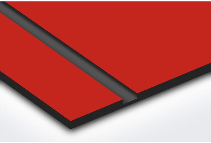 Plaque boite aux lettres Decayeux (100x25mm) rouge lettres noires - 3 lignes