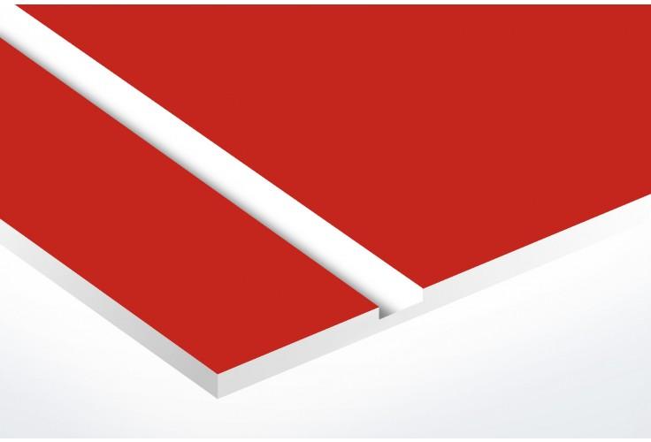 Plaque boite aux lettres Decayeux (100x25mm) rouge lettres blanches - 3 lignes