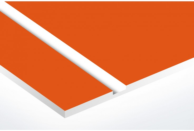 Plaque boite aux lettres Decayeux (100x25mm) orange lettres blanches - 3 lignes